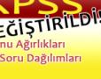 KPSS Yeni Konu Ağırlıkları ve Soru Dağılımları