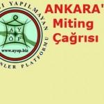 AYÖP Ankara Mitingi Çağrıda Bulundu
