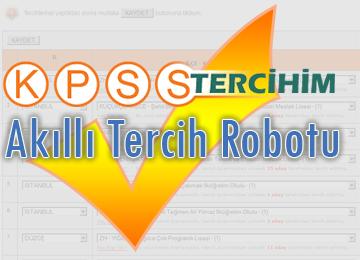 KPSS Tercihim'in Geliştirdiği Öğretmen Adayları için AKILLI TERCİH ROBOTU